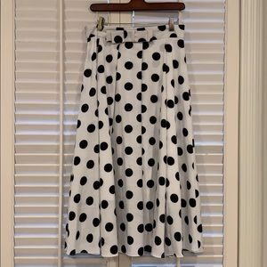Dresses & Skirts - Vintage Polka Dotted Midi Skirt